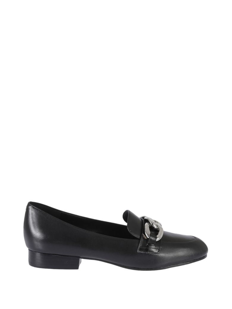 Chain Detail Loafers in Black