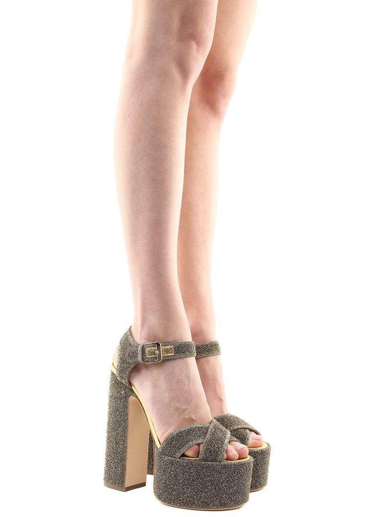 Laurence Dacade Rosella Glittered-fabric Platform Sandals - Oro