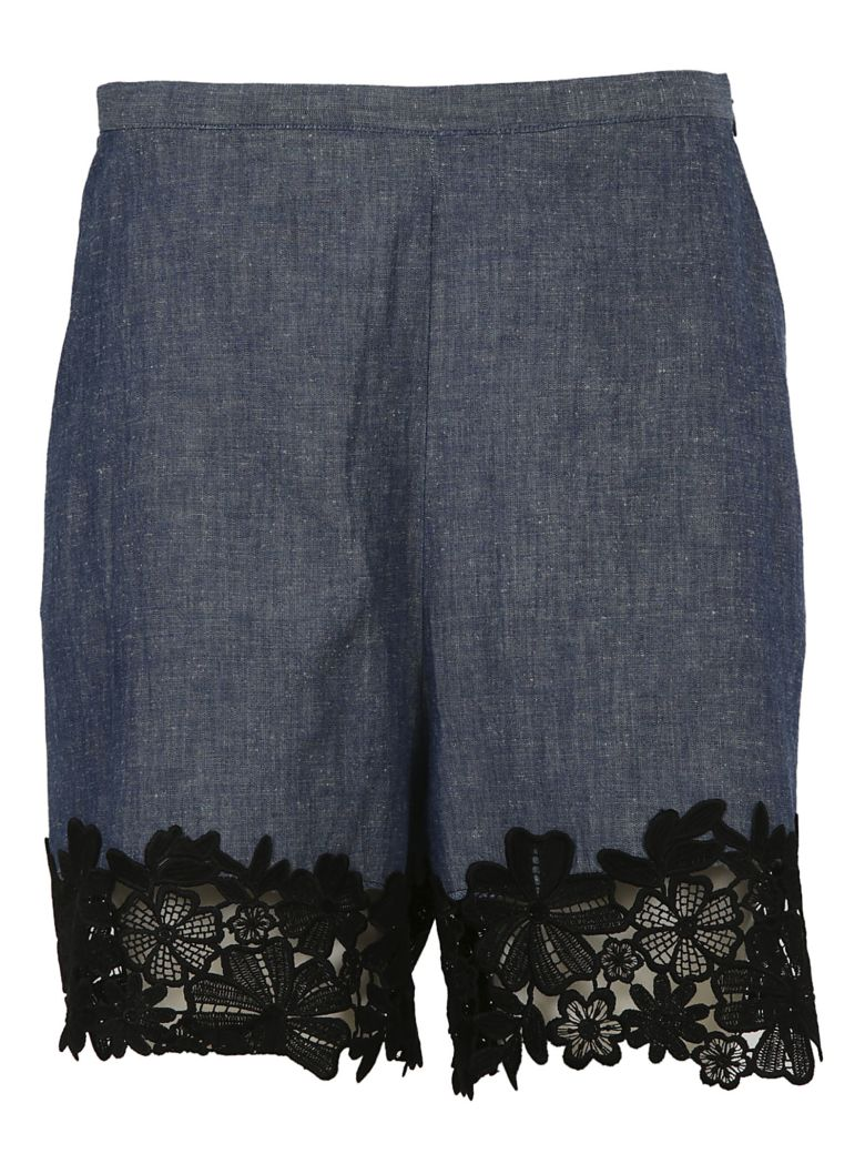 Footlocker Pictures Cheap Visa Payment See By Chloé lace trim chambray shorts Genuine ORFqTB