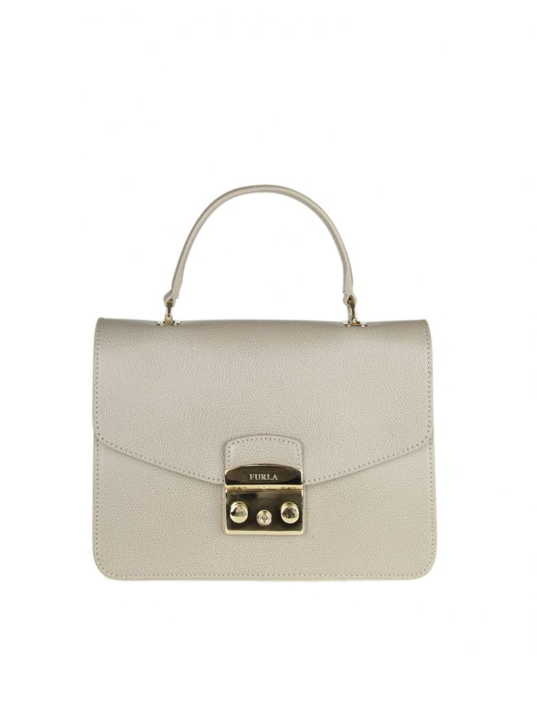 METROPOLIS S HAND BAG IN TORTORA COLOR LEATHER