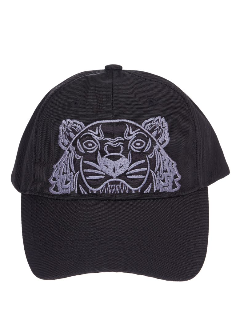 Kenzo Black Tiger-Embroidered Cotton Cap  4efba4bd77d7
