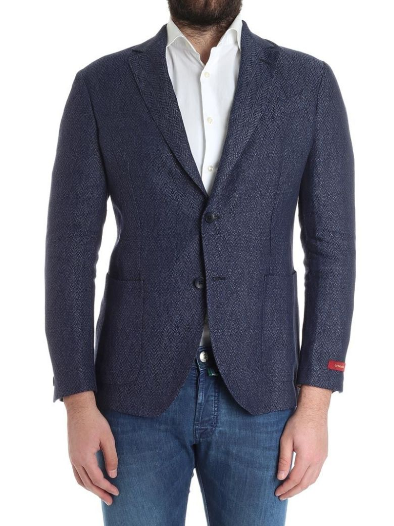 ERNESTO ESPOSITO Ernesto Linen Jacket B3230 6000 in Blue