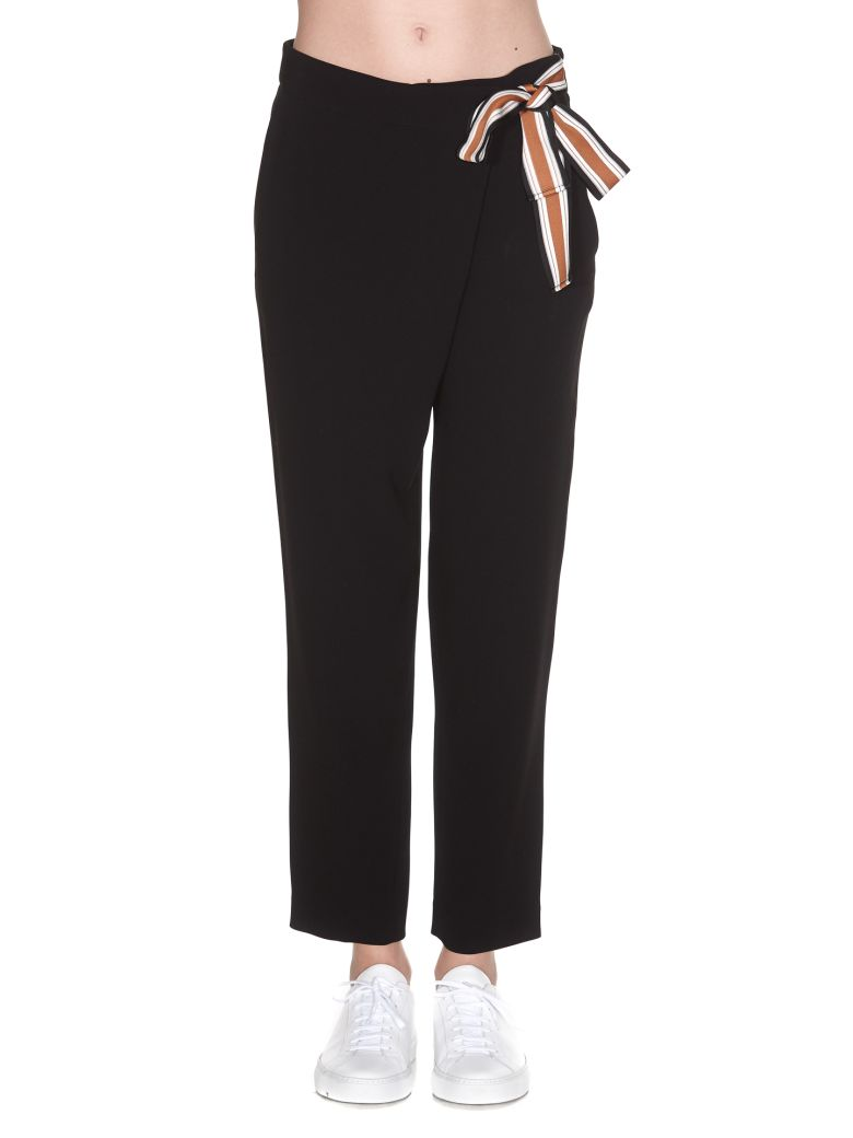 ALBERTO BIANI BOW DETAIL TROUSERS