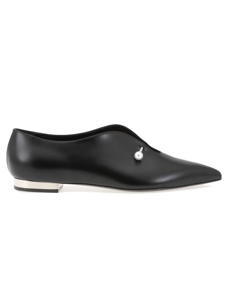 COLIAC Black Leather Giada Loafers