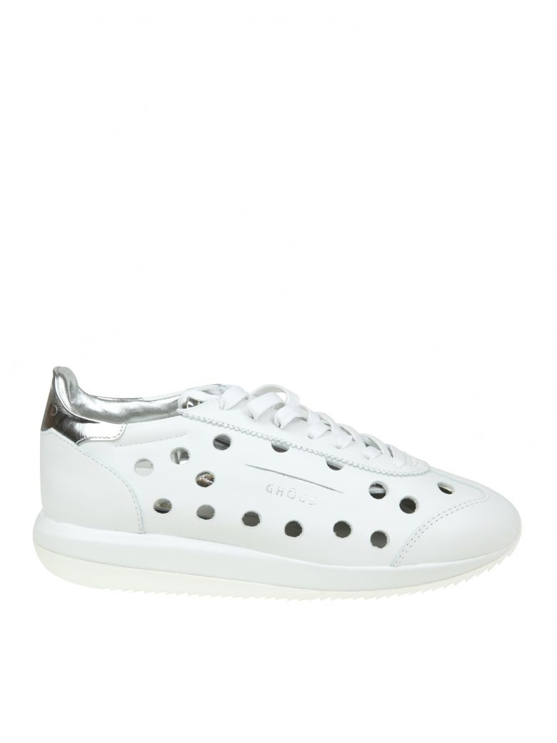 Ghoud GHOUD SNEAKERS IN WHITE PERFORATED LEATHER