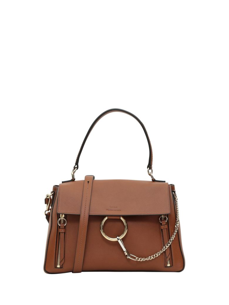 LEATHER AND SUEDE FAYE MEDIUM DAY SHOULDER BAG