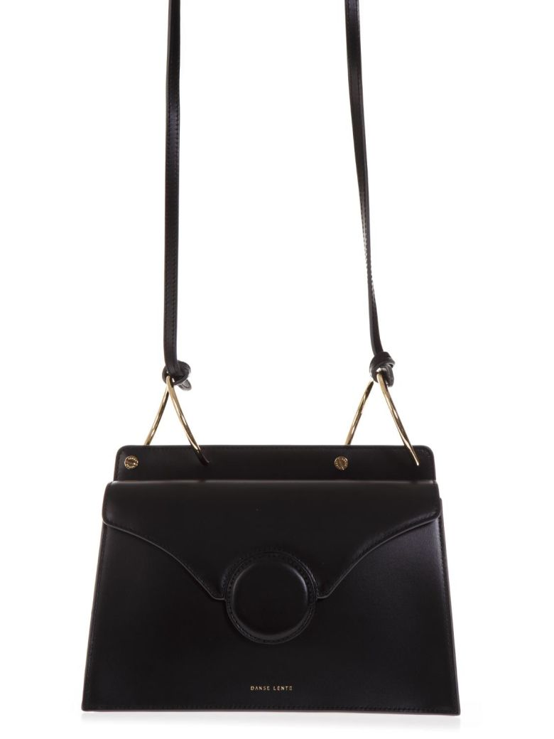 PHOEBE LEATHER CROSSBODY BAG - BLACK