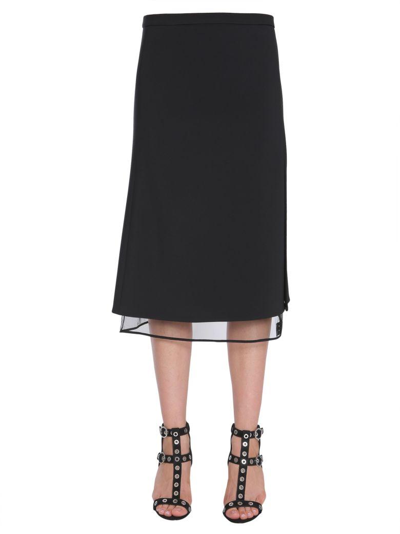 Black Crepe Logo Skirt