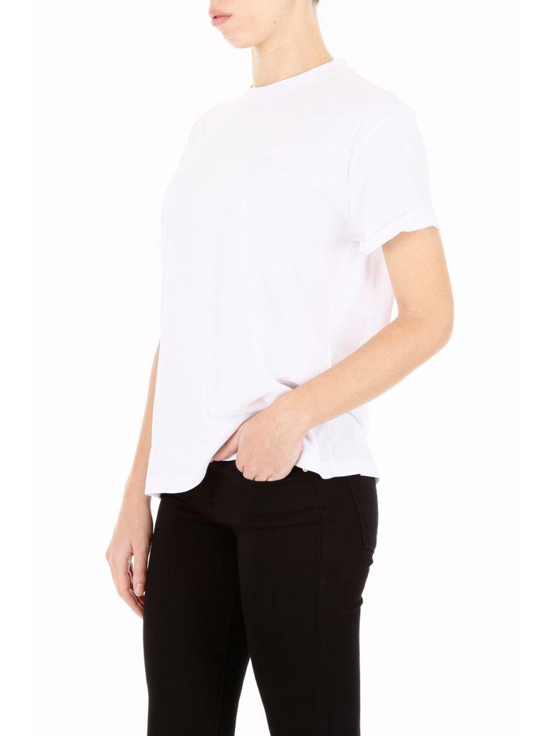 STELLA MCCARTNEY Cottons CREW NECK T-SHIRT WITH LOGO PRINT