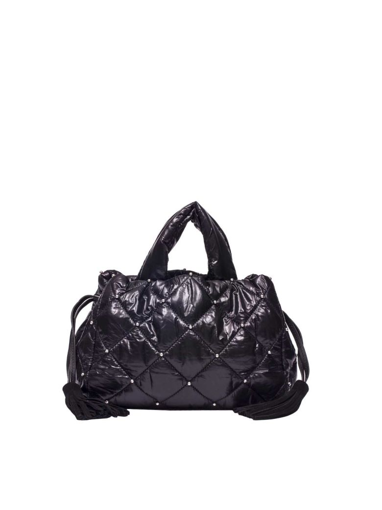 11422db5eb Sonia Rykiel Studded Nylon Handbag In Black