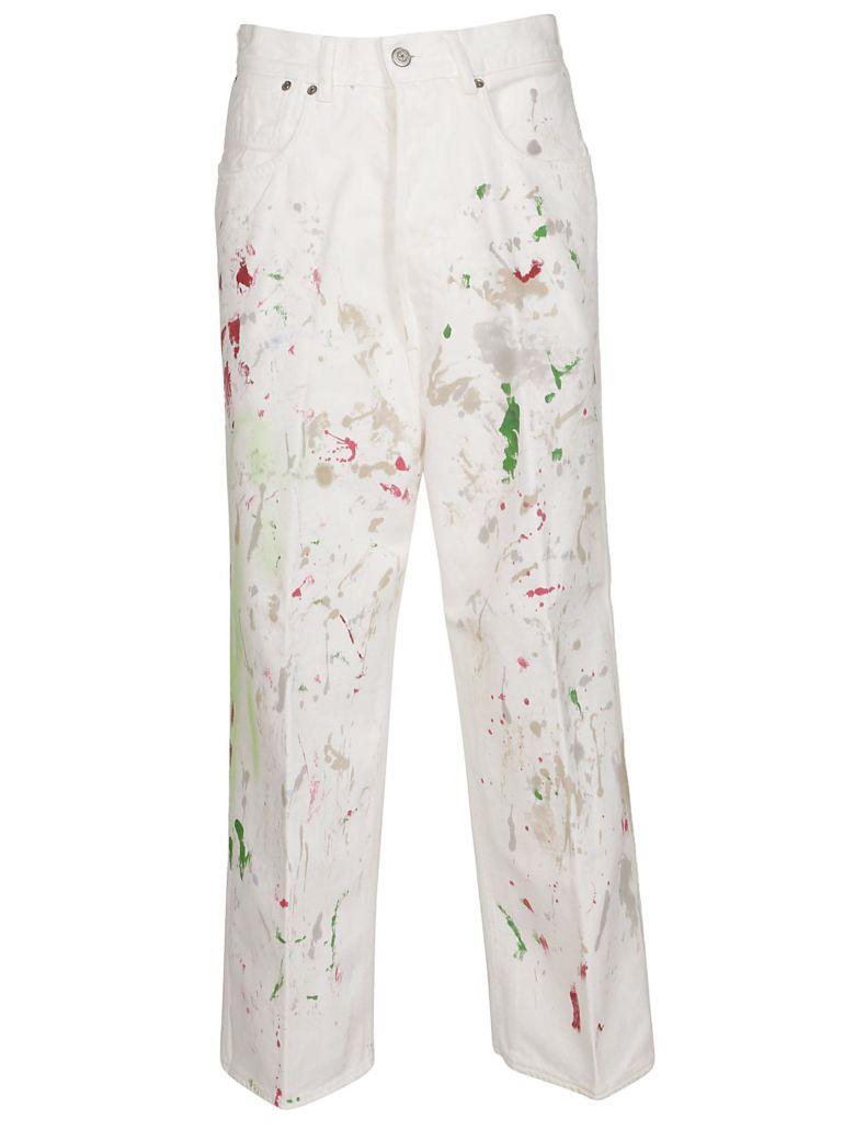 Golden Goose Paint Print Straight-leg Jeans - White