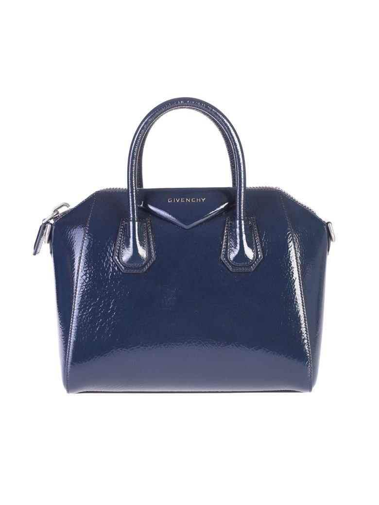 BLUE SMALL ANTIGONA BAG