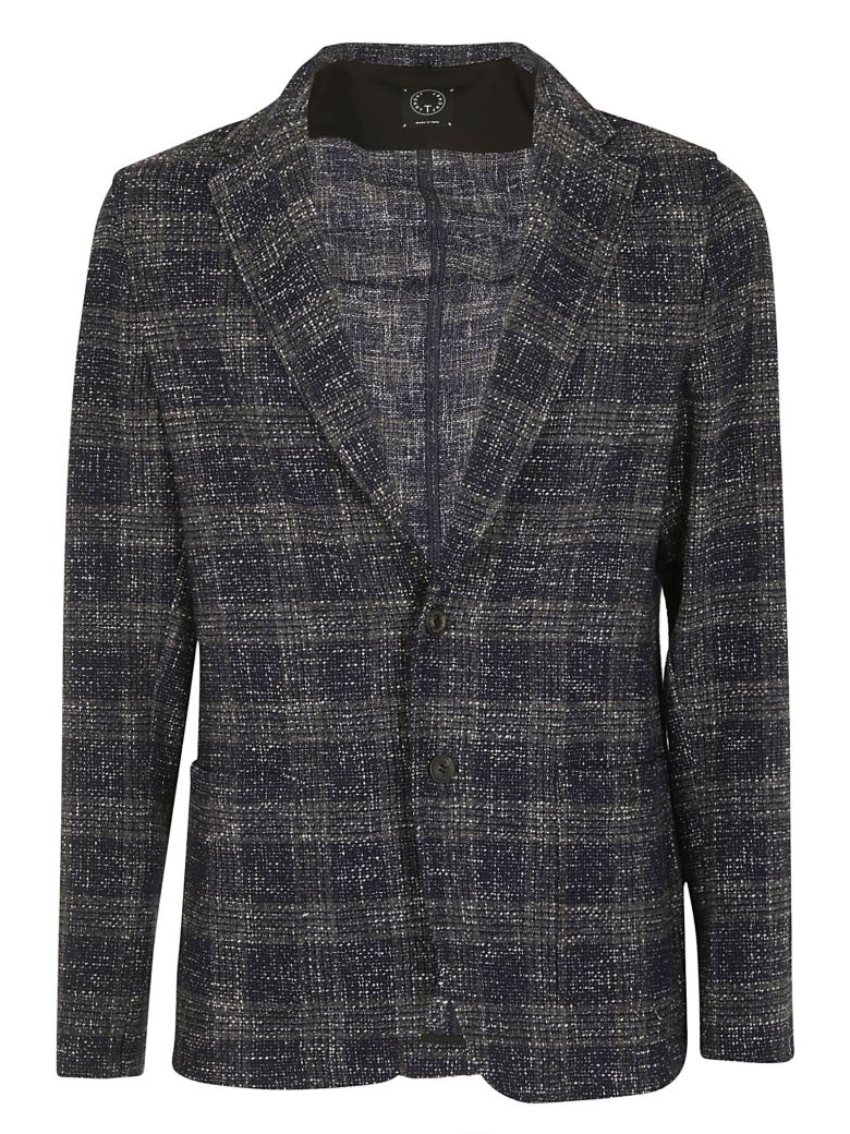 T-JACKET T-Jacket By Tonello Knitted Blazer in Blu/Grigio