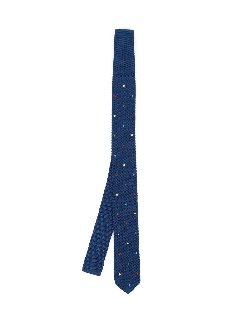 THOMAS MASON Paul Tie With Polka Dots in Blue Multi