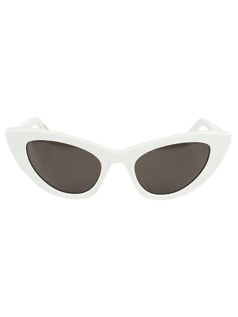 New Wave 213 Lily Sunglasses In Ivory Acetate And Gray Lenses, Ivory Grey