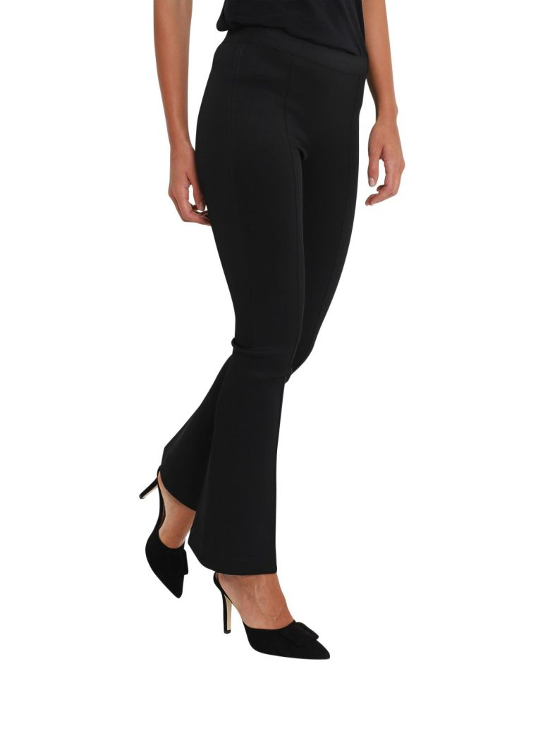FLARED CROPPED PANTS WITH CENTRAL SEAM