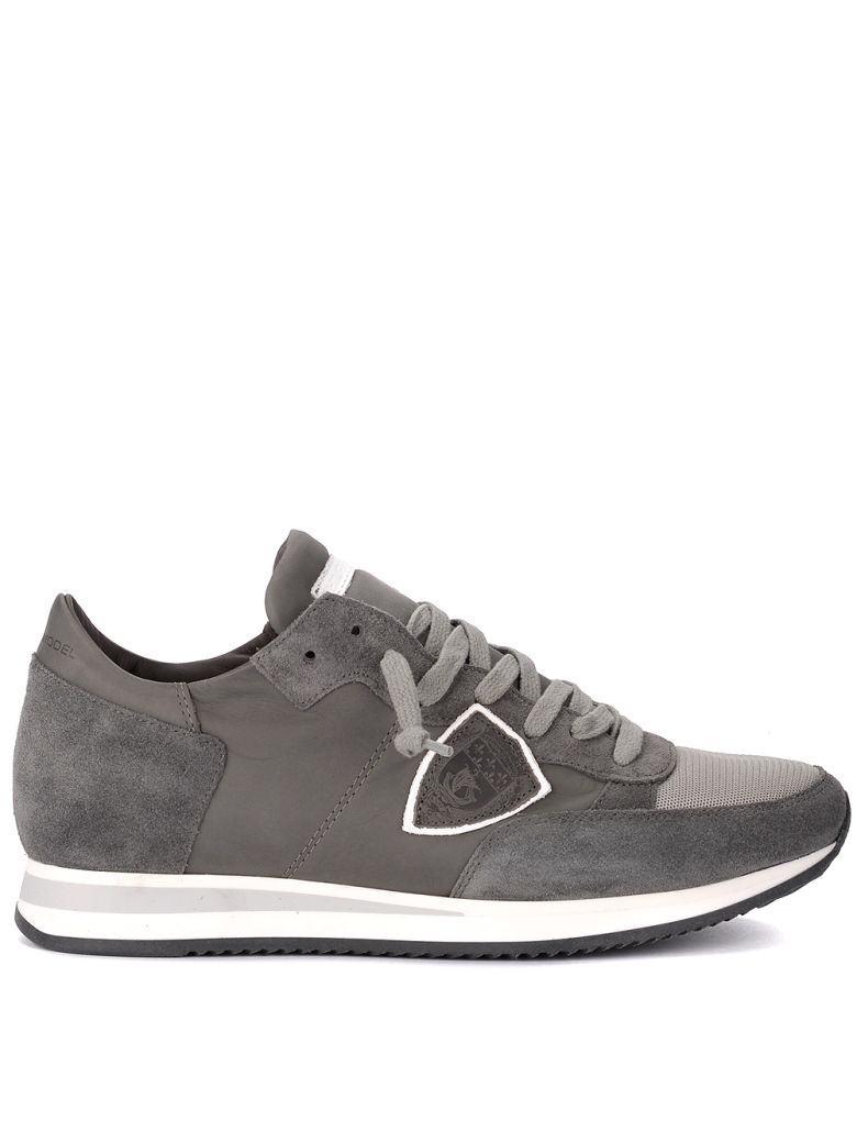 TROPEZ GREY SUEDE AND LEATHER SNEAKER