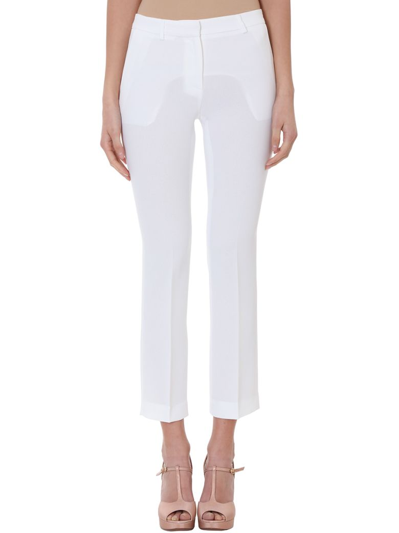 WHITE CREPE TROUSERS