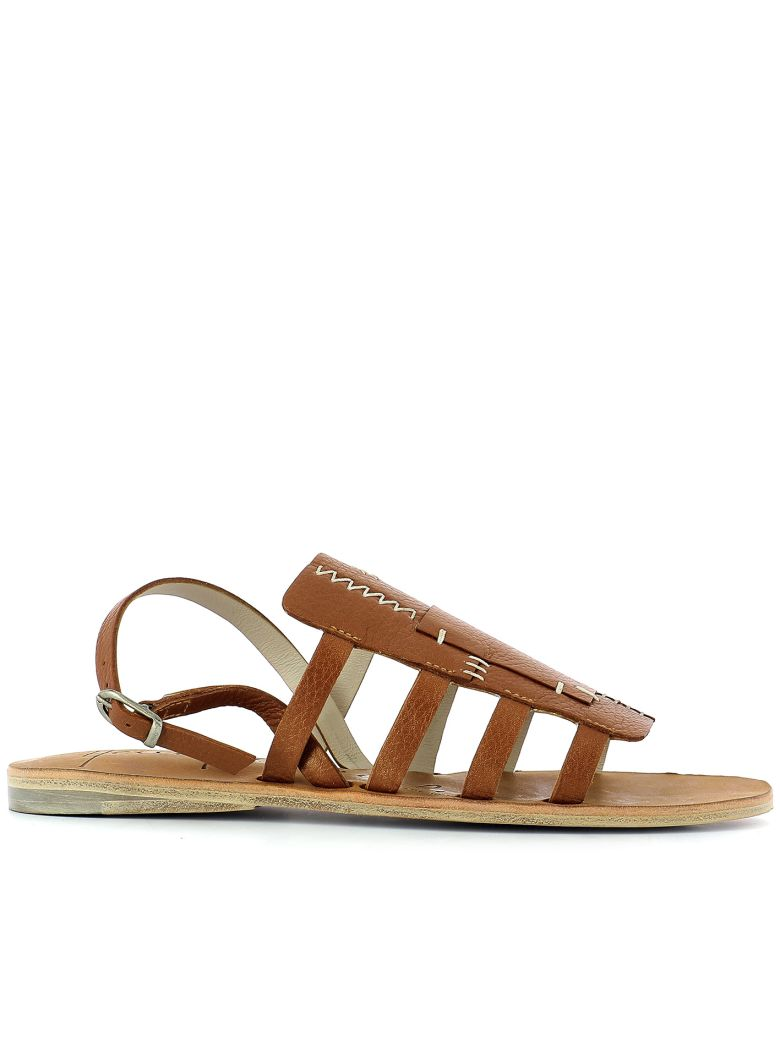 HENRY BEGUELIN BROWN LEATHER SANDALS
