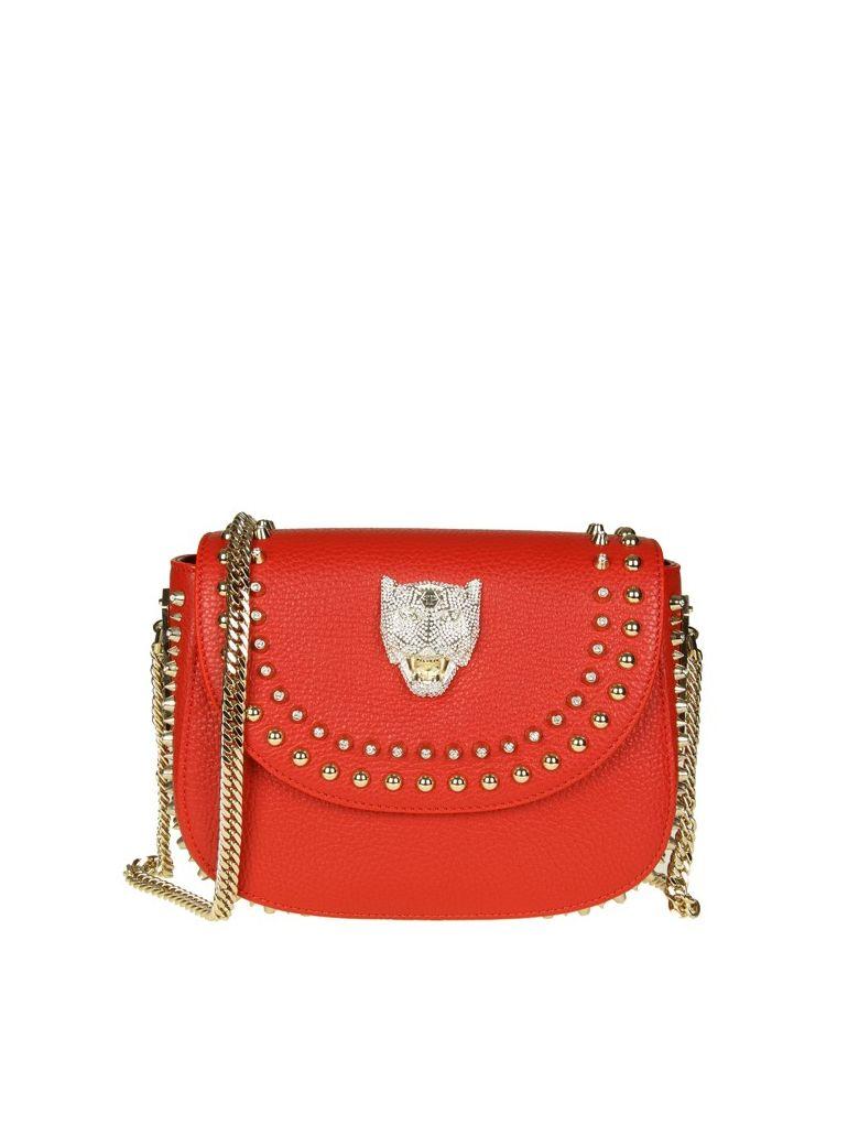 SHOULDER BAG JOANNA IN HAMMERED LEATHER COLOR RED