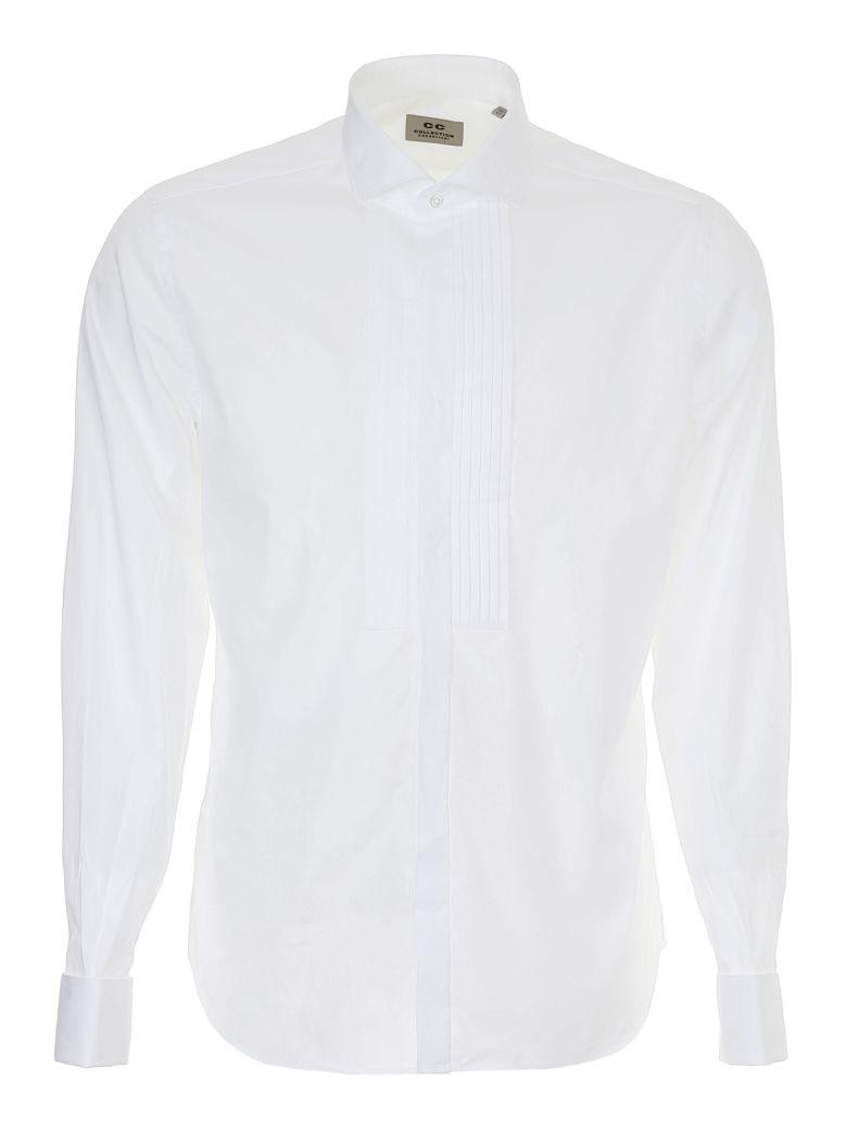 CC COLLECTION CORNELIANI Shirt With Plastron in Bianco Ottico