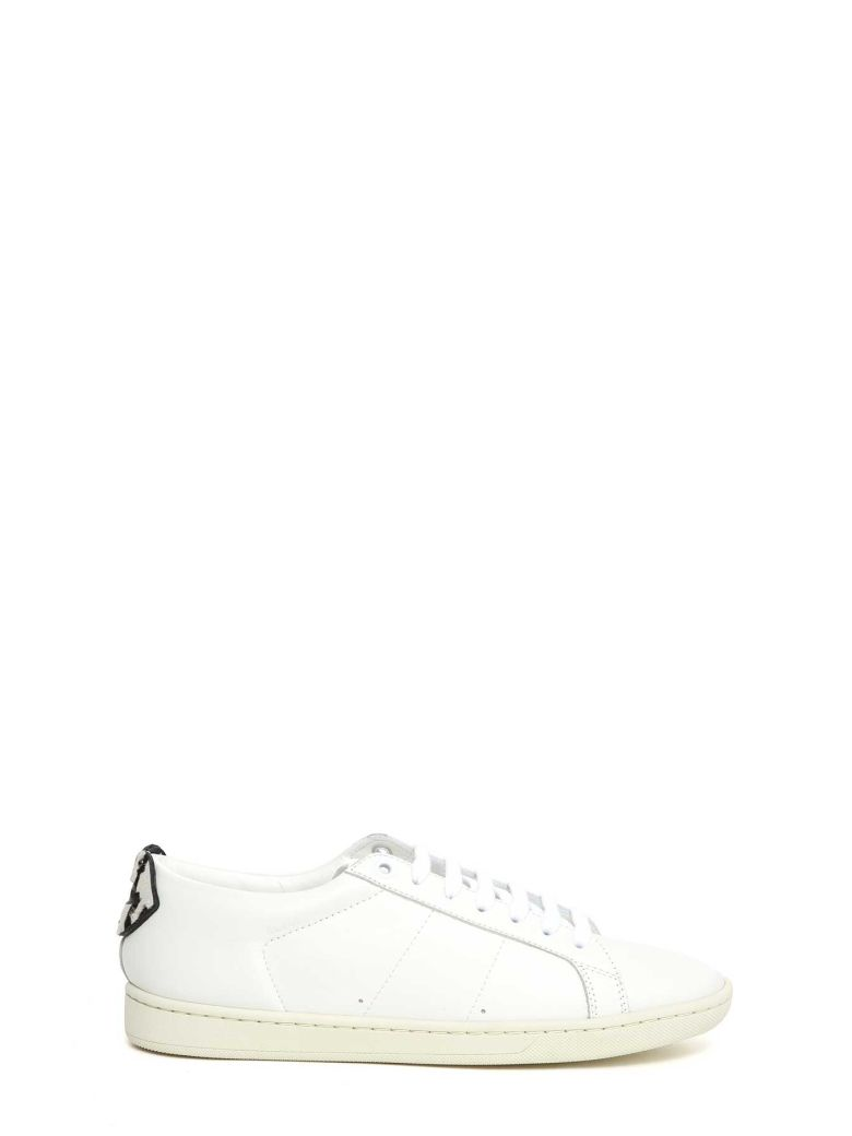 SIGNATURE COURT METALLIC LIPS LEATHER SNEAKER