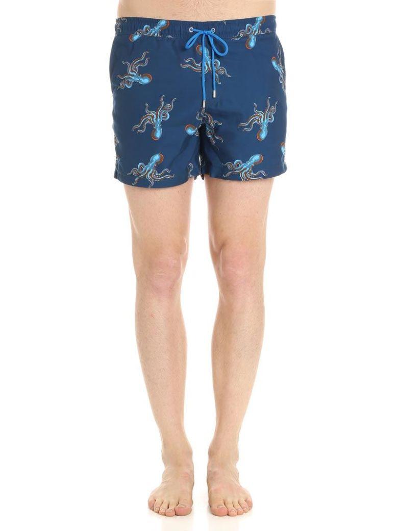 86384b54ff Paul Smith Polyps Swim Shorts In Blue | ModeSens