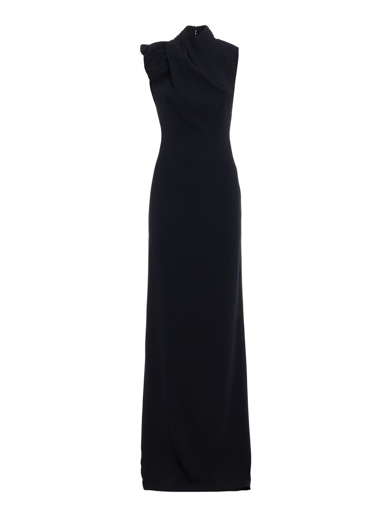 BACKLESS CREPE CADY GOWN
