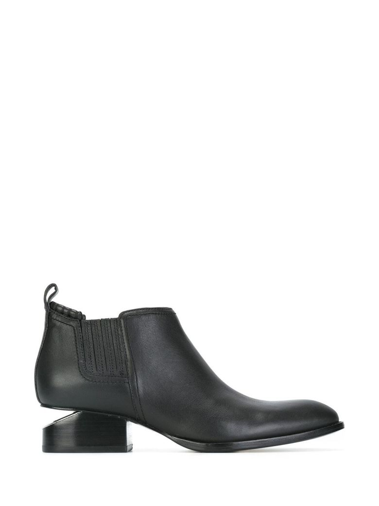 KORI CUTOUT LEATHER ANKLE BOOTS