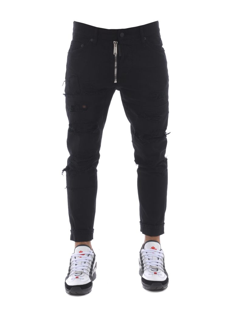 Dsquared2  DISTRESSED MOTO JEANS