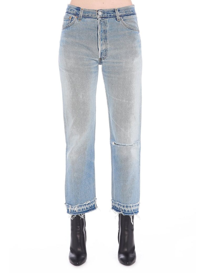 RE-DONE STONE PIPE JEANS