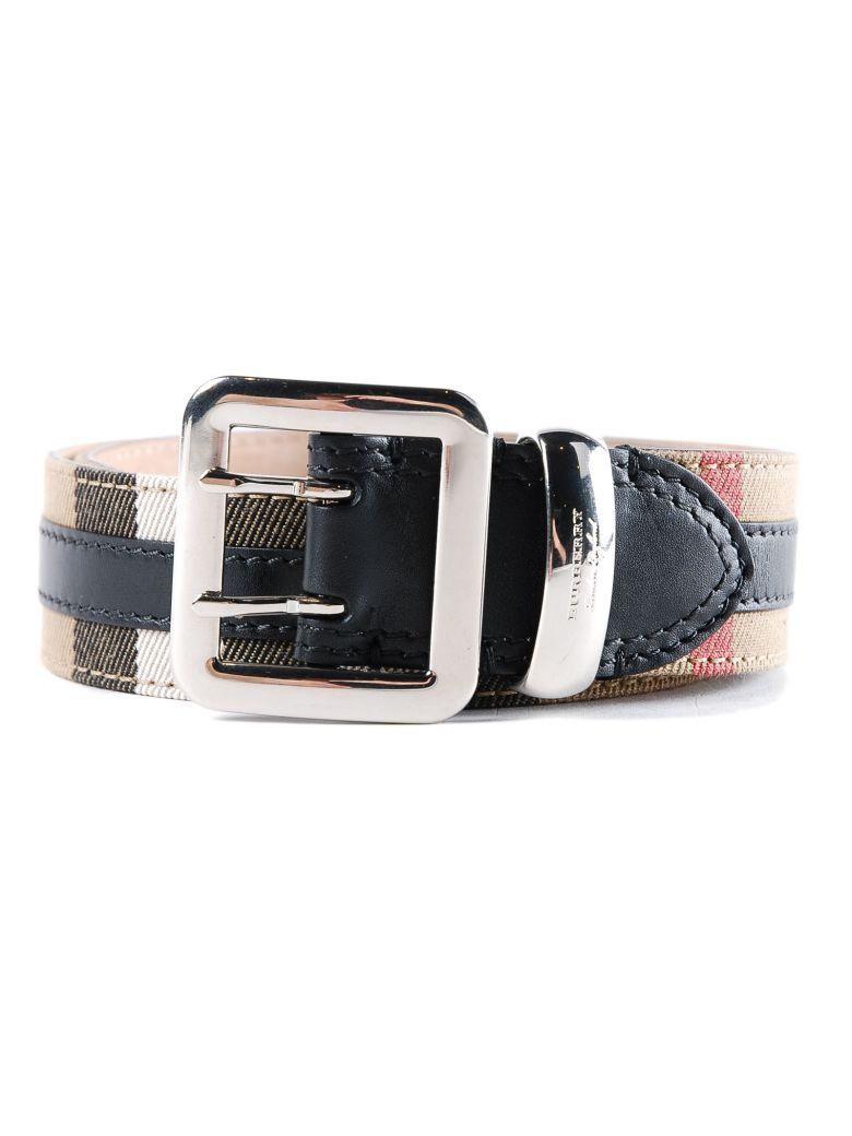 Haymarket Check Belt, Black
