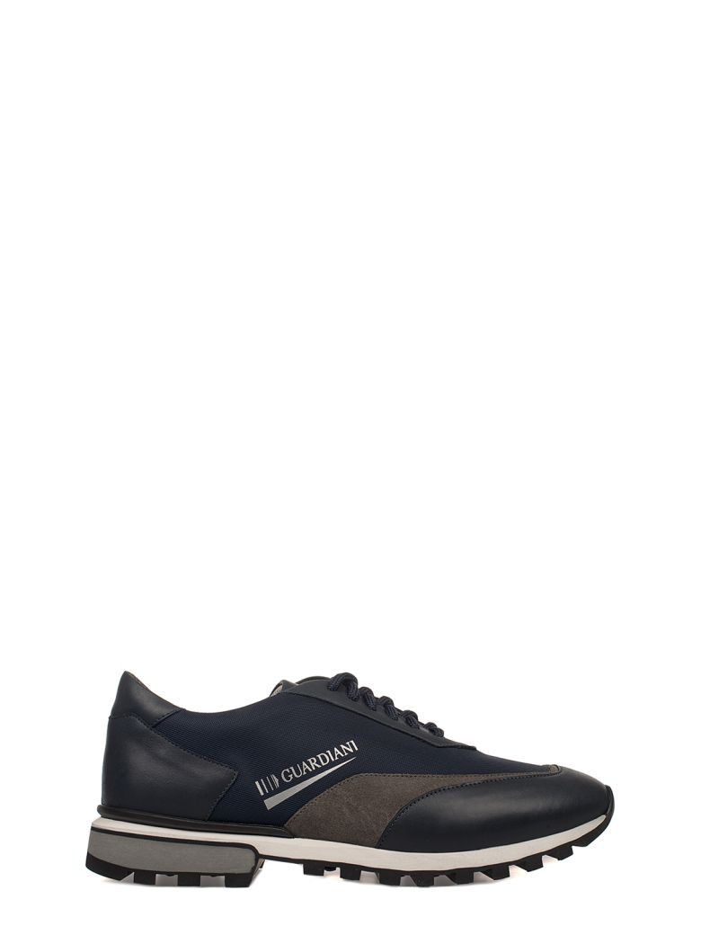 ALBERTO GUARDIANI BLUE SPORT MAN FORREST LEATHER SNEAKERS