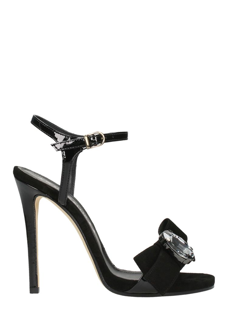 BOW CRYSTAL SANDALS