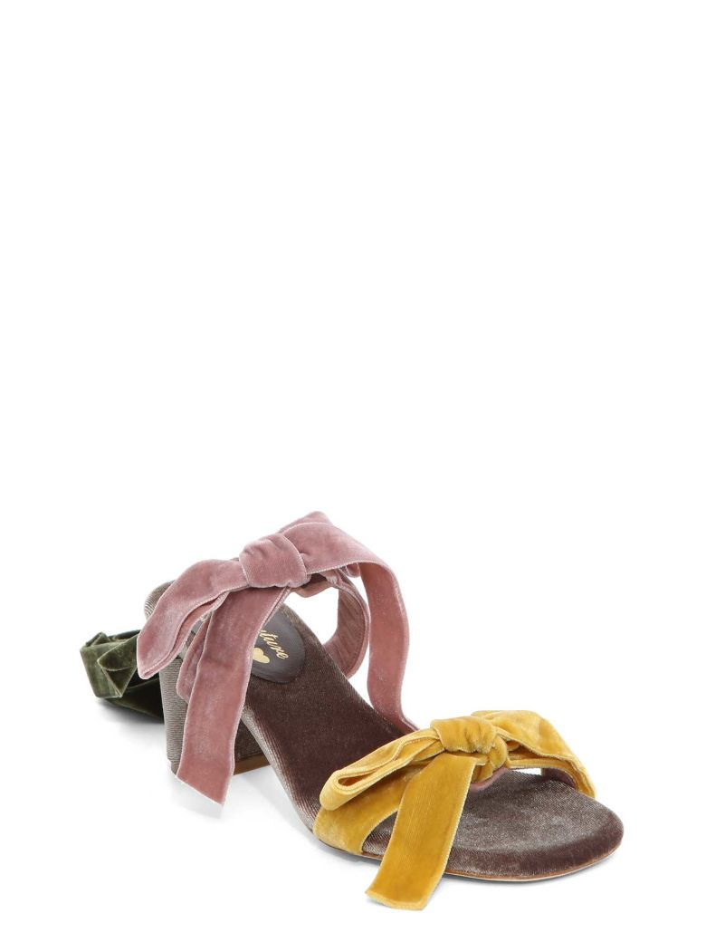 GIA COUTURE Ankle Tie Sandals in Multicolour