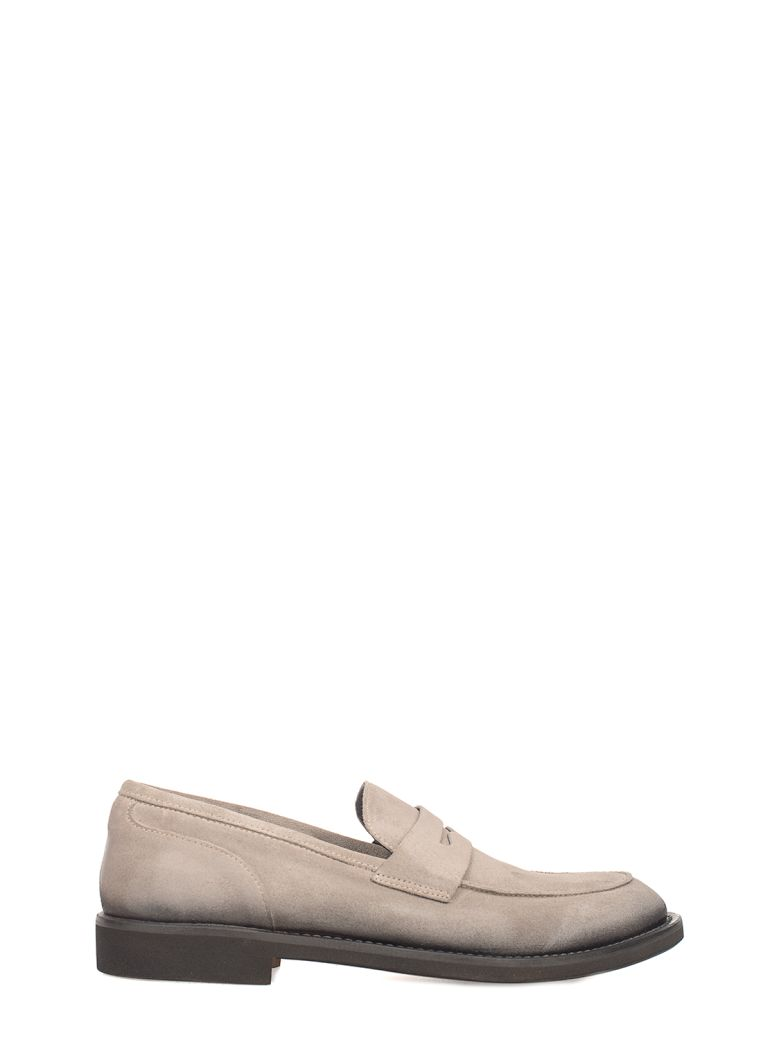SEBOY'S Taupe Suede Loafer in Gray