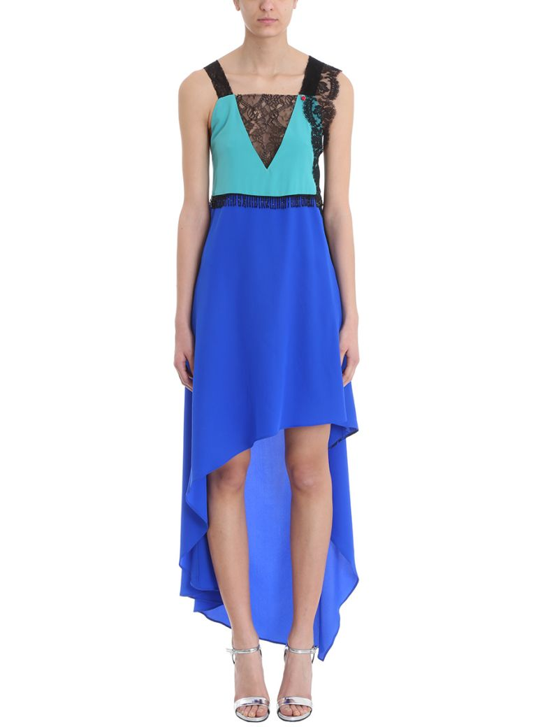 GIACOBINO BLUE GREEN SILK DRESS