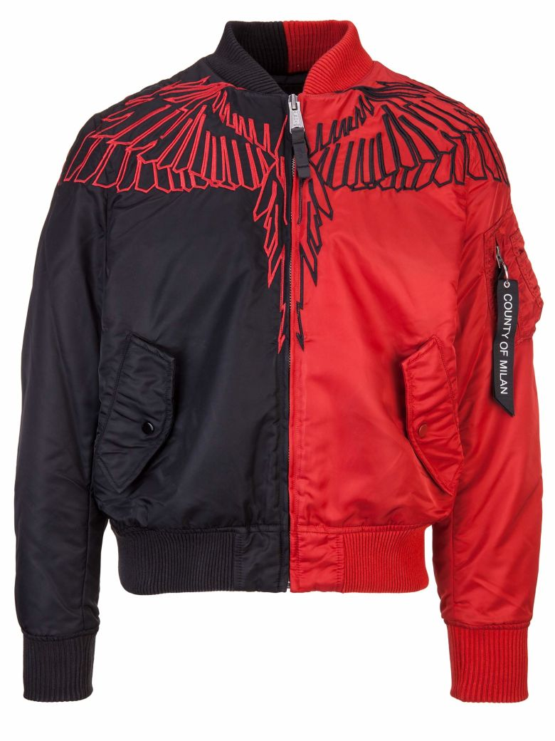 'Wings Alpha Ma-1' Jacket in Red