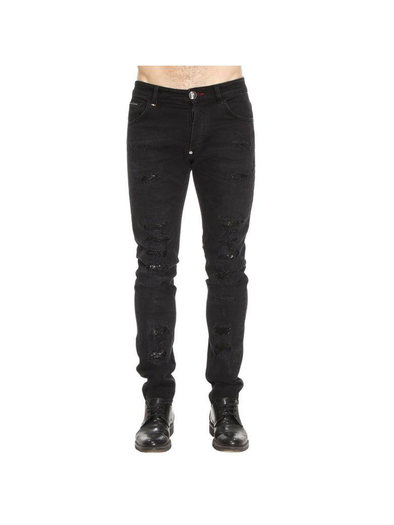 Miyoko Jeans Super Coupe Droite - Noir Philipp Plein 2AAfgmBKy