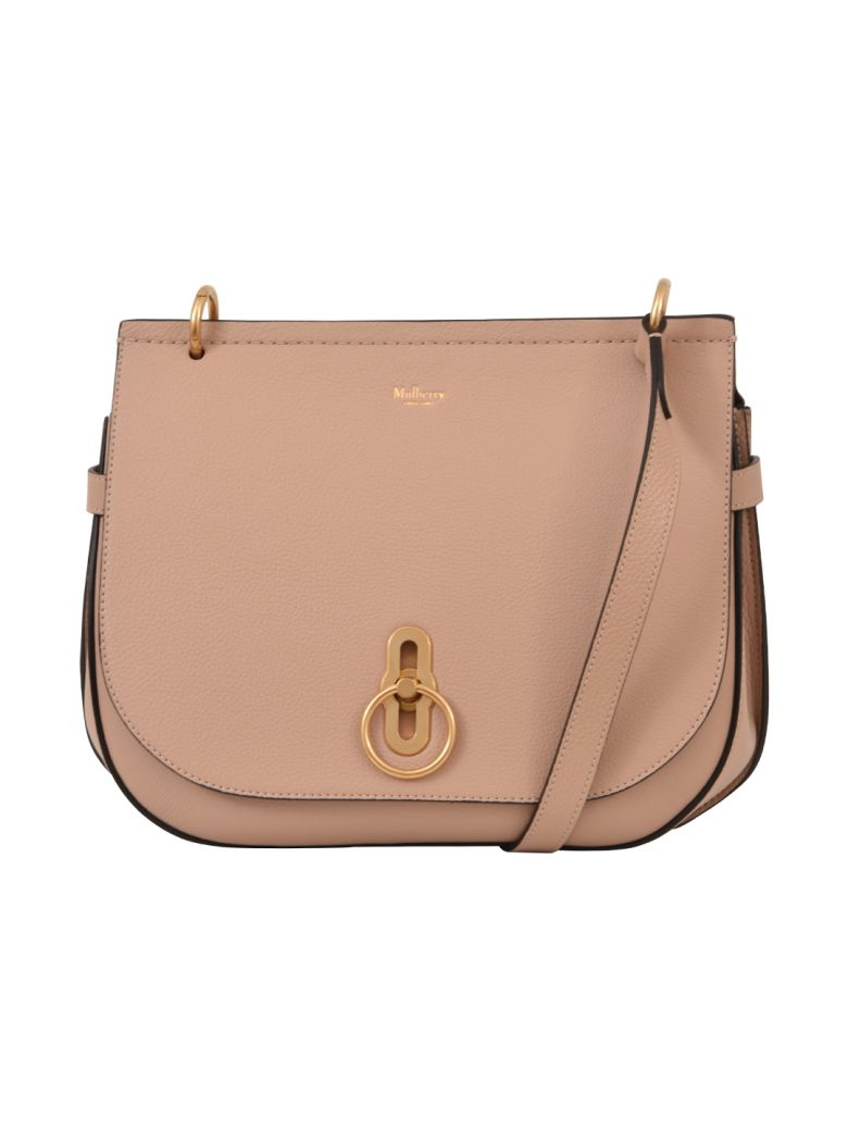 Amberley Leather Crossbody Bag - Pink in Rosewater