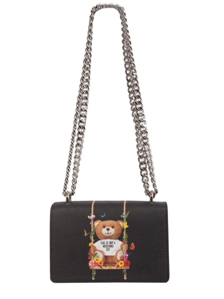 Botanical Teddy Crossbody Bag, Nero