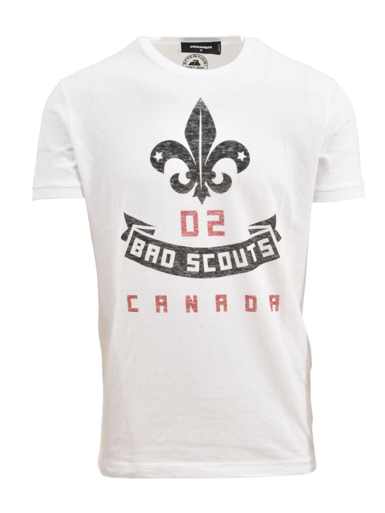 Dsquared2  BAD SCOUTS T-SHIRT WHITE