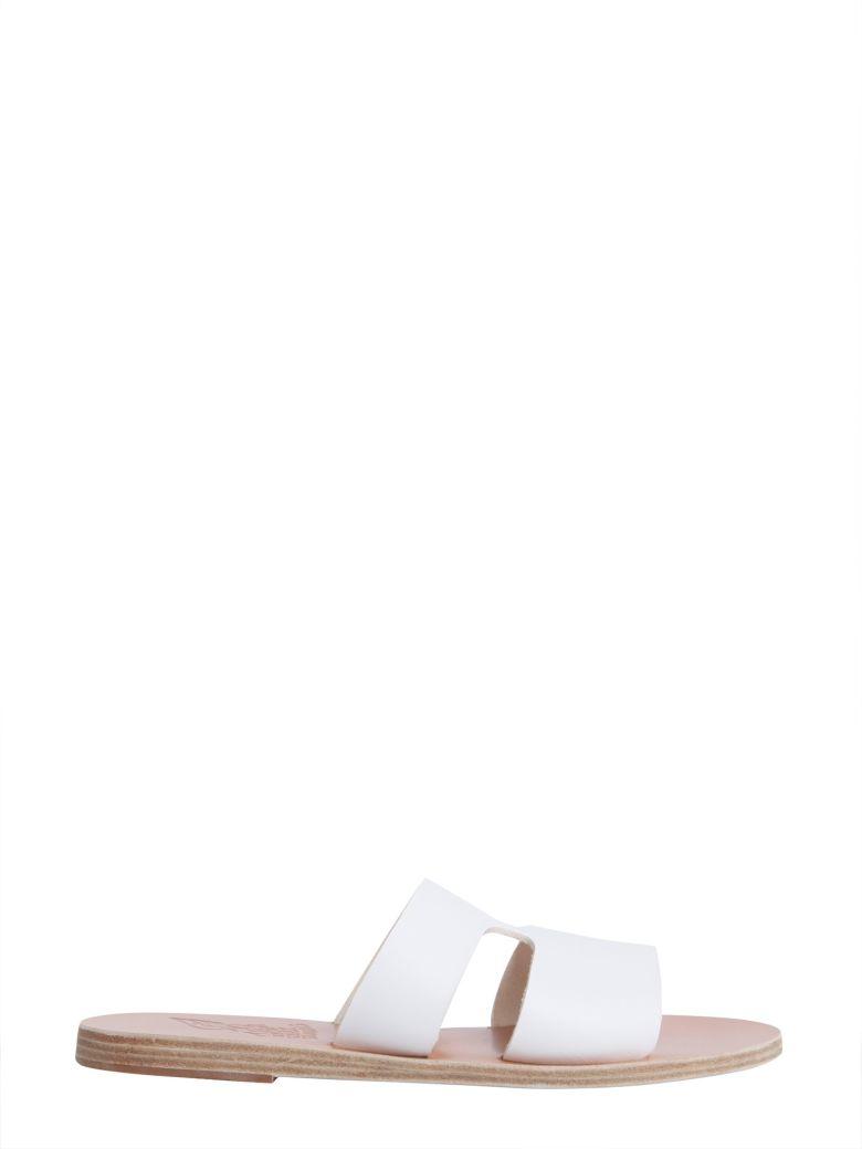 Apteros Slide Sandals, Bianco