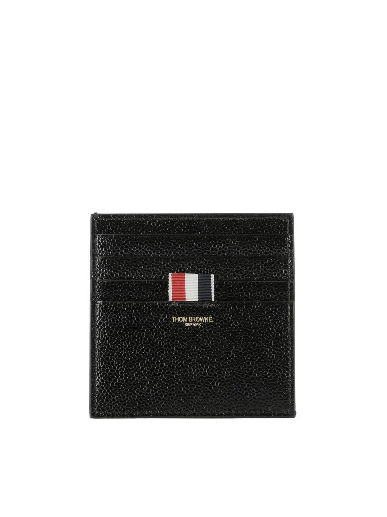 Black Double-Sided Card Holder Thom Browne 0Xmhy