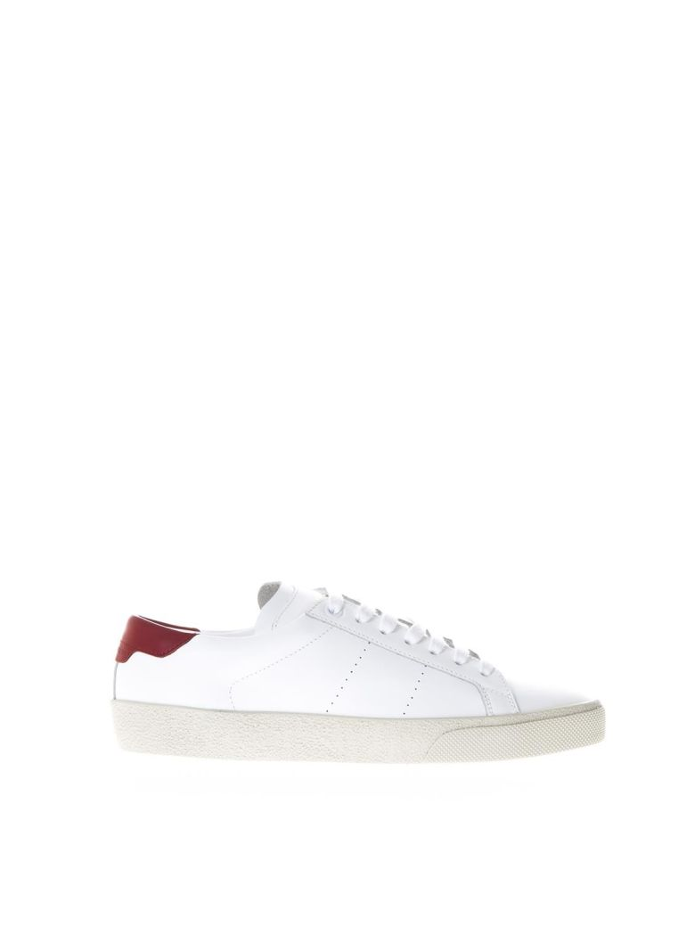 WHITE SL-06 CLASSIC COURT SNEAKERS