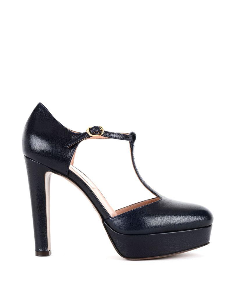 L'AUTRE CHOSE L'Autre Chose Women'S Ldh03811Wp26151 Black Leather Pumps in Blu