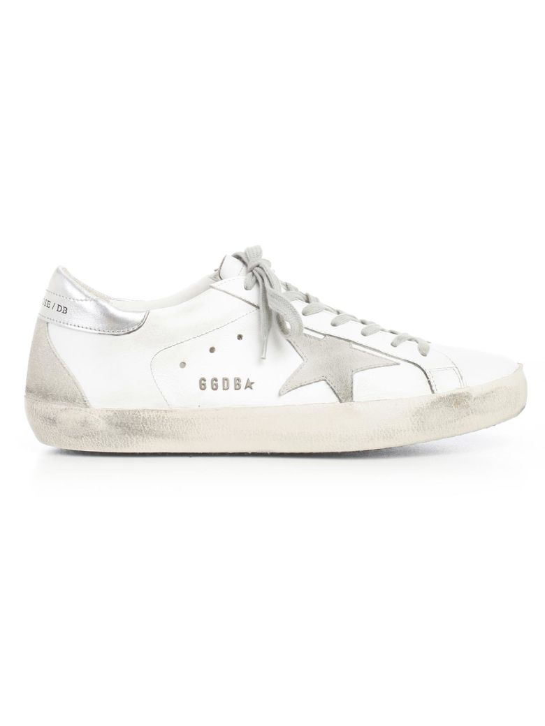 Metallic Trim Superstar Leather Sneakers - IT40 / White Golden Goose 9QfywMUHaL
