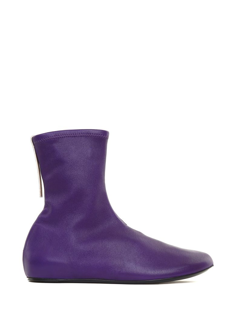 Kenzo  STRETCH-LEATHER BALLERINA BOOTS