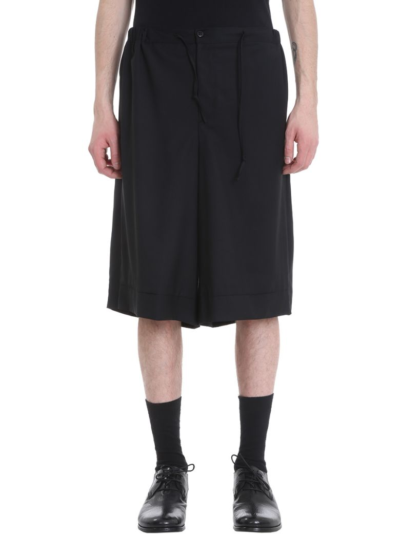 SARTORIAL MONK BLACK WOOL SHORTS