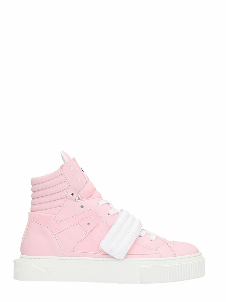GIENCHI HYPNOS PINK SUEDE AND LEATHER SNEAKERS